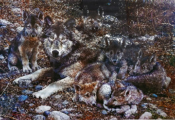 Den Mother - Wolf Family Limited Edition Print - Carl Brenders