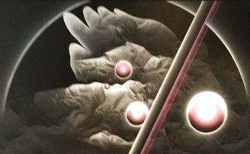 Untitled Painting 1980 54x96 Huge Original Painting - Patrice Breteau