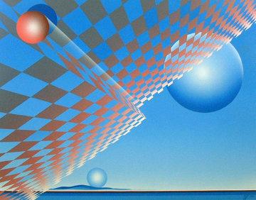 Worlds 1983 46x58 Super Huge Original Painting - Patrice Breteau