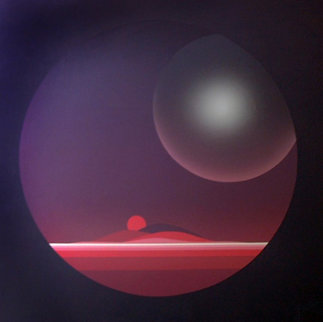 Planet Twilight 1983 30x30 Original Painting - Patrice Breteau