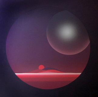 Planet Twilight 1983 30x30 Original Painting - Patrice Breteau