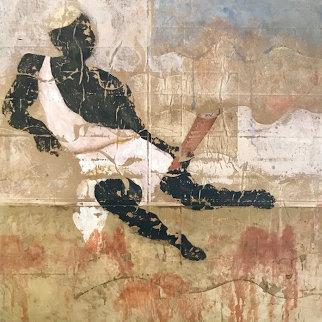 La Parenthese 2002 50x50 Original Painting - Pierre Marie Brisson