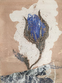 Fleure Bleue I 2003 29x22 Works on Paper (not prints) - Pierre Marie Brisson