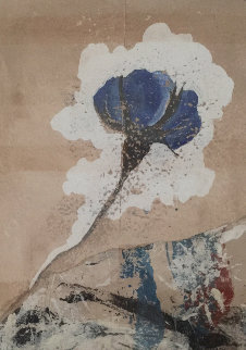 Fleure Bleue II 2003 29x22 Works on Paper (not prints) by Pierre Marie Brisson