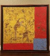 Batisseur 50x50  Huge Original Painting by Pierre Marie Brisson - 1