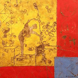 Batisseur 50x50  Huge Original Painting - Pierre Marie Brisson