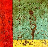La Puisatiere 2006 48x48 Huge Original Painting by Pierre Marie Brisson - 0
