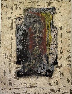 Composition Féminine 1986 51x38 Huge Original Painting - Pierre Marie Brisson