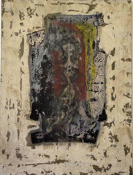 Composition Féminine 1986 51x38 Original Painting by Pierre Marie Brisson