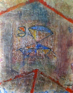 Sans Titre VI 1983 22x17 Original Painting - Pierre Marie Brisson