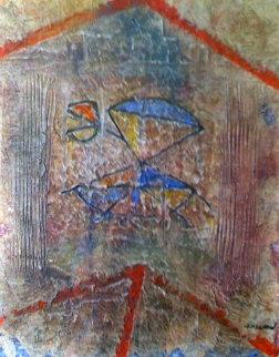 Sans Titre VI 1983 22x17 Original Painting by Pierre Marie Brisson