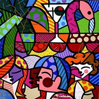 News Cafe 2005 Limited Edition Print - Romero Britto