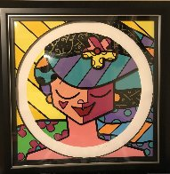 Pink Face 3-D 2008 Limited Edition Print by Romero Britto - 2
