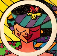 Pink Face 3-D 2008 Limited Edition Print by Romero Britto - 1