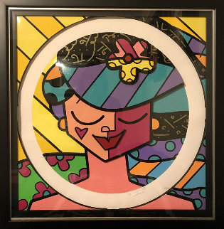 Pink Face 3-D 2008 Limited Edition Print by Romero Britto