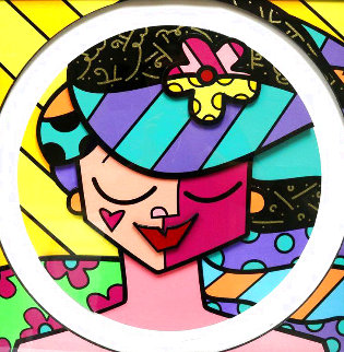 Pink Face 3D 2008 Limited Edition Print - Romero Britto