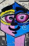 Close Eye 2014 31x24 Original Painting - Romero Britto