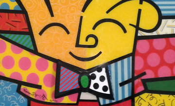 Hug 1993 Limited Edition Print - Romero Britto