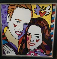 True Love (Yellow) (Will and Kate) 2011 Limited Edition Print by Romero Britto - 1