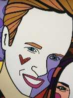 True Love (Yellow) (Will and Kate) 2011 Limited Edition Print by Romero Britto - 2