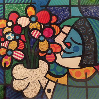 Flowers For You 1990 Limited Edition Print by Romero Britto