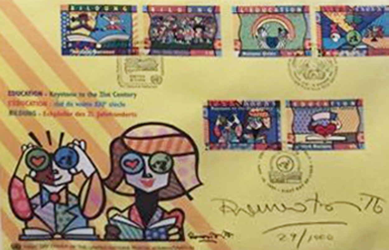 Educating the World 1999 Limited Edition Print by Romero Britto