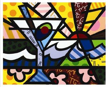 Martini Sunrise 2005 Limited Edition Print - Romero Britto