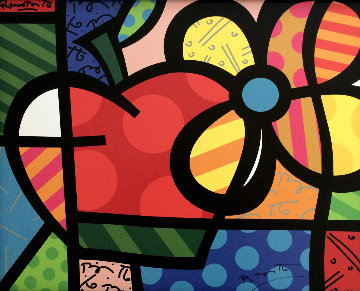 Thank You / A Flor Da Maasa 2004 Limited Edition Print - Romero Britto
