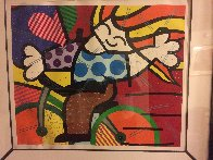 Girl on Bicycle 1992 Embellished Limited Edition Print by Romero Britto - 1