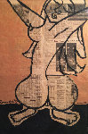 Untitled Nude 1988 46x31 Newsprint  Works on Paper (not prints) - Romero Britto