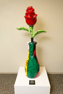 Rose Kennedy Rose 64 in Sculpture by Romero Britto