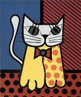 Cat Embellished Limited Edition Print by Romero Britto - 0