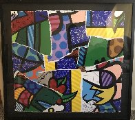 Britto MIX 2004 30x32 Works on Paper (not prints) by Romero Britto - 1
