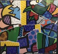 Britto MIX 2004 30x32 Works on Paper (not prints) by Romero Britto - 0