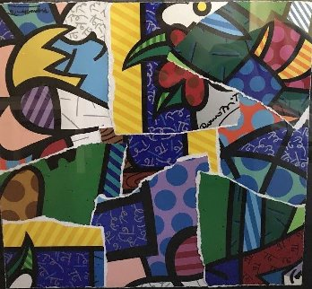 Britto MIX 2004 30x32 Works on Paper (not prints) - Romero Britto