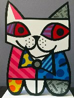Cat Resin Sculpture 2002 17 in Sculpture by Romero Britto - 0