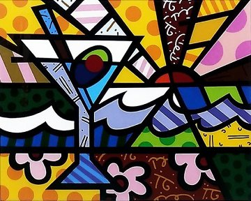 Martini Sunrise 2005 Limited Edition Print by Romero Britto