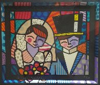 Bride And Groom (Black) 1994 Limited Edition Print by Romero Britto - 2