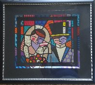 Bride And Groom (Black) 1994 Limited Edition Print by Romero Britto - 1