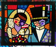 Bride And Groom (Black) 1994 Limited Edition Print by Romero Britto - 0