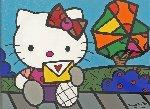 Love Letter 2012 31x37 Original Painting - Romero Britto