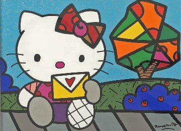 Love Letter 2012 31x37 Original Painting by Romero Britto