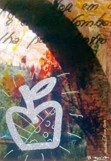 Puenta La Reina 2010 51x34 Original Painting - Romero Britto