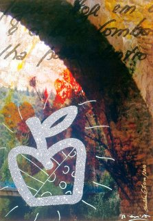 Puenta La Reina 2010 51x34 Huge Original Painting - Romero Britto