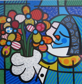 Flowers For You 1994 Limited Edition Print by Romero Britto