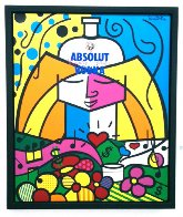 Absolut 1990 Limited Edition Print by Romero Britto - 2