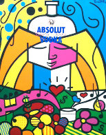 Absolut 1990 Limited Edition Print by Romero Britto - 0