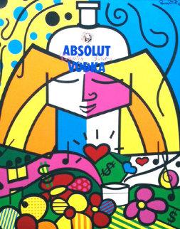 Absolut 1990 Limited Edition Print by Romero Britto