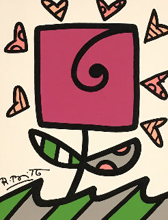 Growing 2014 24x21 Original Painting - Romero Britto