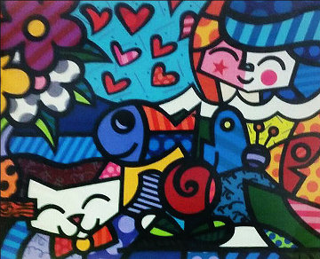 Squeaki's World 2005 Limited Edition Print by Romero Britto